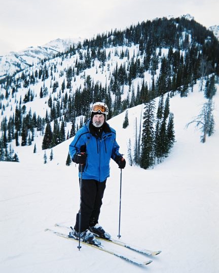 Jerry skiing at Jackson Hole, Wyoming